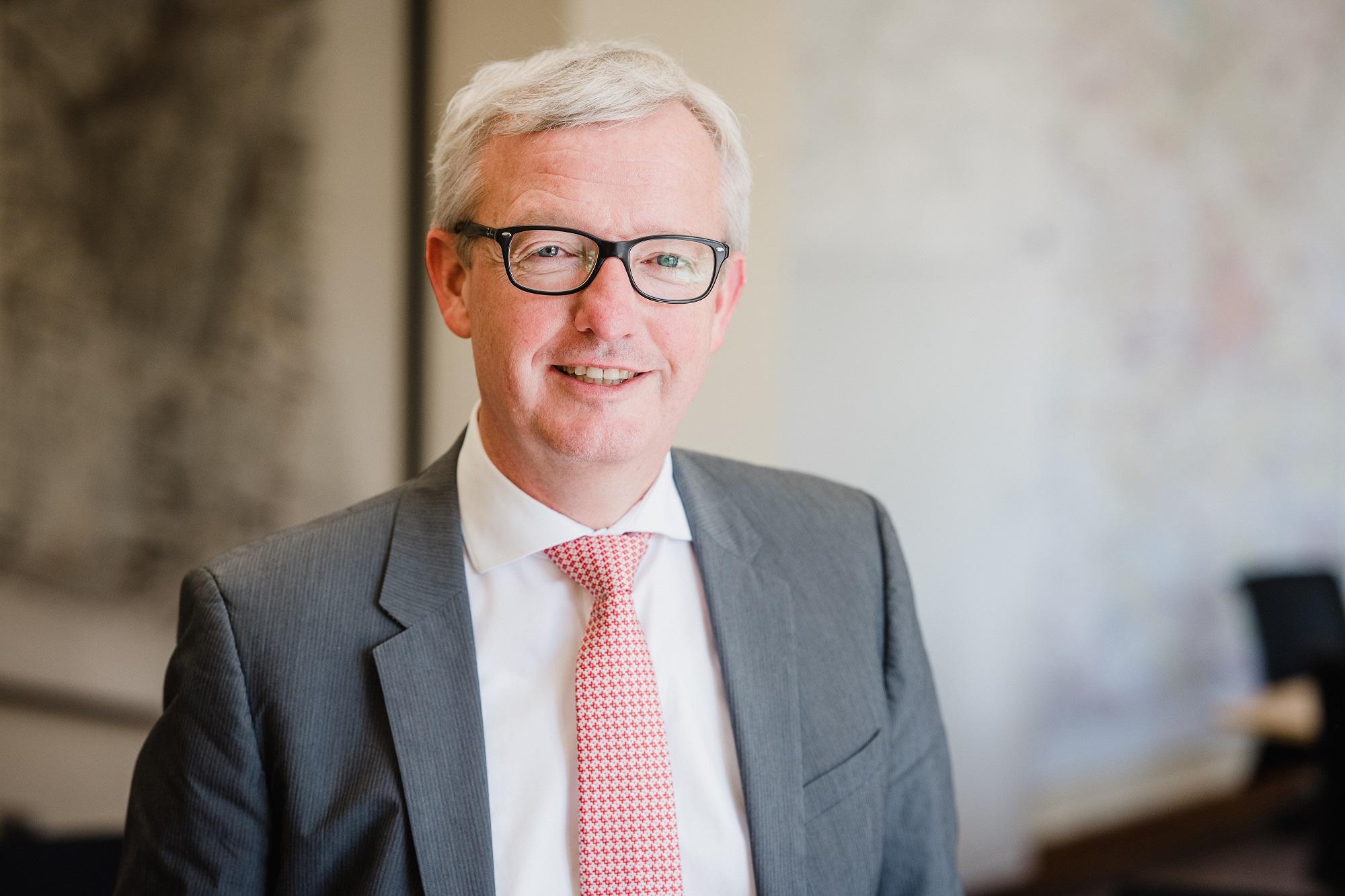 Sprecher Guido Beermann bei der Frankfurter Regulierungskonferenz